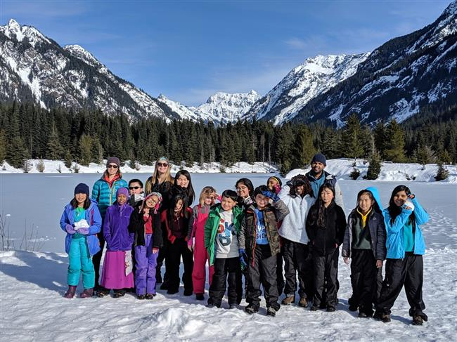 Group photo at Gold Creek Pond