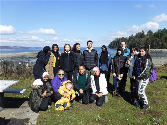 Rainier Beach School Group at Penrose Point State Park