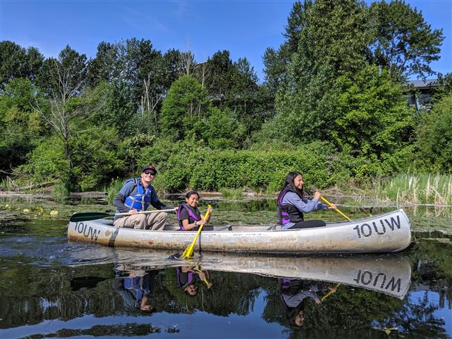 Canoeing in Union Bay