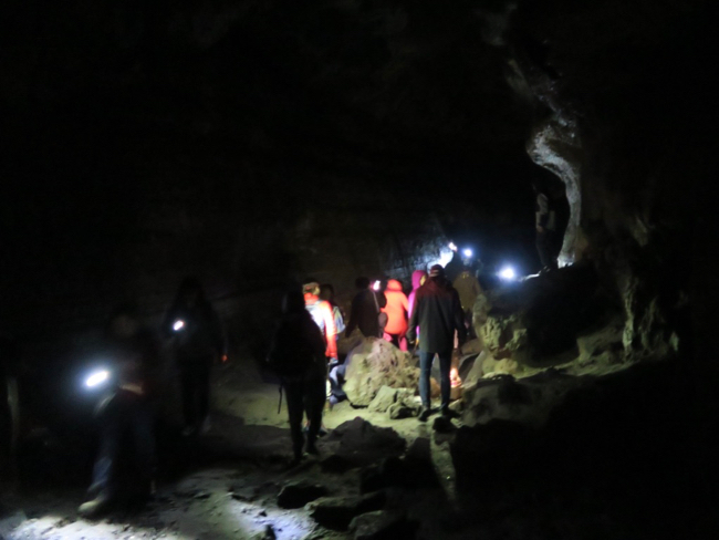 The Ape Cave is an ancient lava tube formed long before the 1980 eruption of Mt St Helens.
