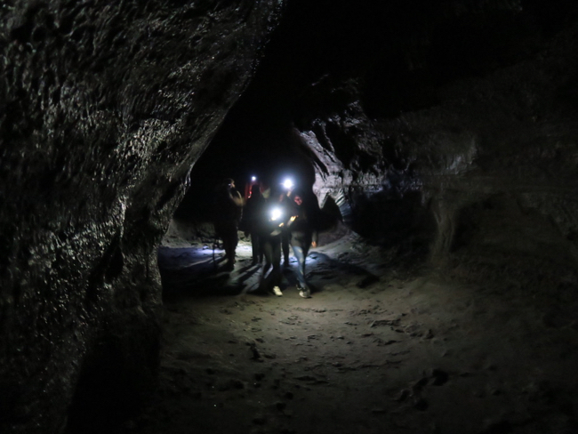 The Ape Cave is spooky and would be perfect for a Hollywood movie. You expect to run into The Goonies down there.