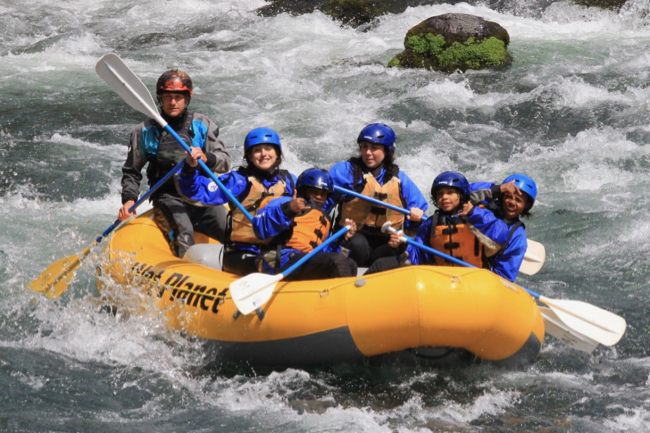 Whitewater rafting on the White Salmon River.